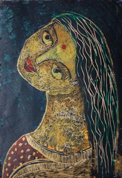 She IV by Sambuddha Duttagupta, , , Brown color