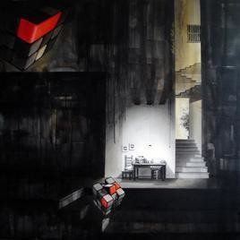 Life Corner 15 by Shrikant Kolhe, Realism, Realism Painting, Acrylic on Canvas, Black color