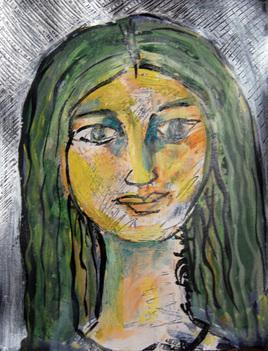 She XVI by Sambuddha Duttagupta, , , Green color
