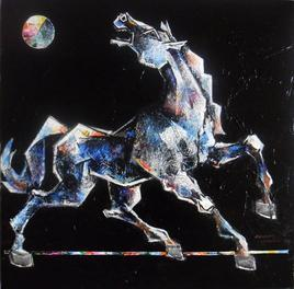 Dancing Under The Moonlight by Dinkar Jadhav, , , Black color