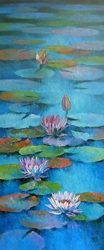 Waterlilies - 41 by Swati Kale, , , Green color