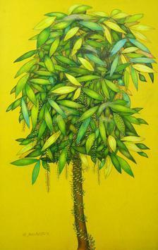 The Tree by Babli Keshri, , , Yellow color