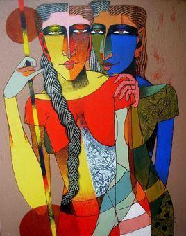 Kinnari Playing by Dayanand Kamakar, , , Brown color