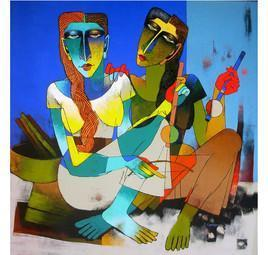Violine Sellers - 49 by Dayanand Kamakar, , , Blue color