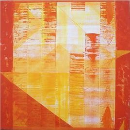 Visual Script of Colours by Dhirendra Mandge, Abstract, Abstract Painting, Acrylic on Canvas, Beige color