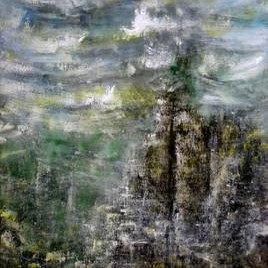 Nature by Kalaiselvan Kumar, Painting, Oil & Acrylic on Canvas, Gray color