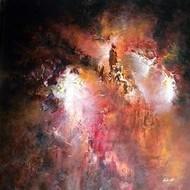 Wisdom by Kalaiselvan Kumar, Painting, Oil & Acrylic on Canvas, Brown color