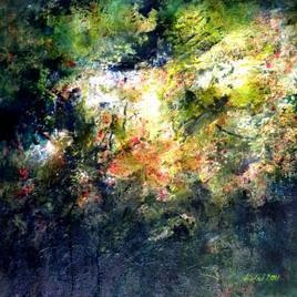 For The World by Kalaiselvan Kumar, Painting, Oil & Acrylic on Canvas, Green color