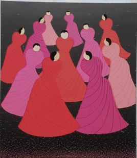 Dance by Hemavathy Guha, , , Purple color