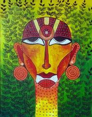 Face 01 - Painting by Pragati Sharma Mohanty