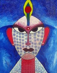 Face 02 - Painting by Pragati Sharma Mohanty