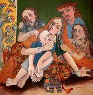 Family by Jayshree P Malimath, , , Brown color