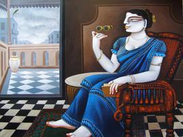 Charulata 5 by Gautam Mukherjee, , , Brown color