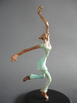 Ecstasy-IV by Shanta Samant, Expressionism Sculpture | 3D, Bronze, Gray color