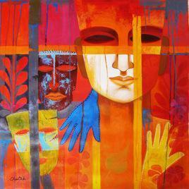 Nautanki by Chaitali Mukherjee, , , Red color