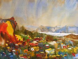 Mindscape - 9 by Sunil Kale, , , Beige color
