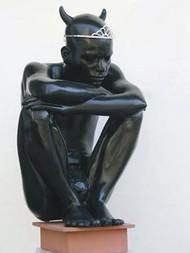 Black Lover by Shailesh Mohan Ojha, Decorative, Decorative Sculpture | 3D, Fiber Glass, Gray color