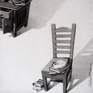 Kursi 20 by Shrikant Kolhe, Realism, Realism Painting, Acrylic on Canvas, Gray color