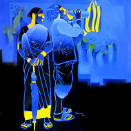Untitled 452 by Srinivas Tailor, Painting, Acrylic on Canvas, Blue color