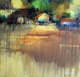 Entry Point by Shailesh Meshram, Painting, Acrylic on Canvas, Brown color