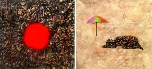 Kingdom by Apurva Singh, Conceptual, Conceptual Painting, Mixed Media on Canvas, Brown color