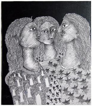 Reminiscence II by Sambuddha Duttagupta, , , Gray color