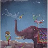 Untitled by Mathai K T, Conceptual, Conceptual Painting, Gouache on Paper, Blue color