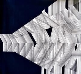Arch-Space - 1 by S K Sahni, Geometrical, Geometrical Painting, Acrylic on Canvas, Gray color