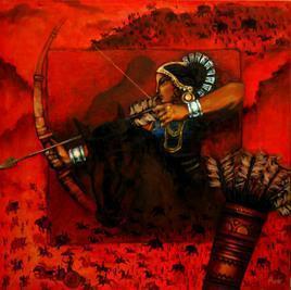 Chitrangada by Avik Chakraborty, , , Red color