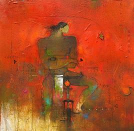 Cycle Wala I by Amol Pawar, , , Brown color