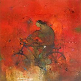 Cycle Wala II by Amol Pawar, , , Red color