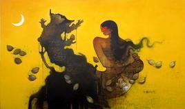 Summer I by Amol Pawar, , , Orange color