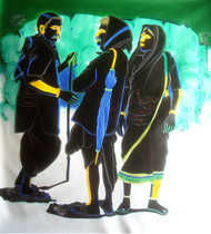 Untitled 260 by Srinivas Tailor, Painting, Acrylic on Canvas, Green color