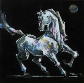 Dancing Under The Moonlight 2 by Dinkar Jadhav, , , Black color