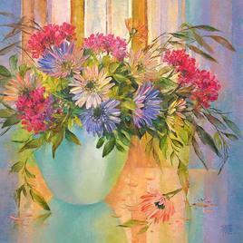 My Flowers 2 by Swati Kale, , , Beige color
