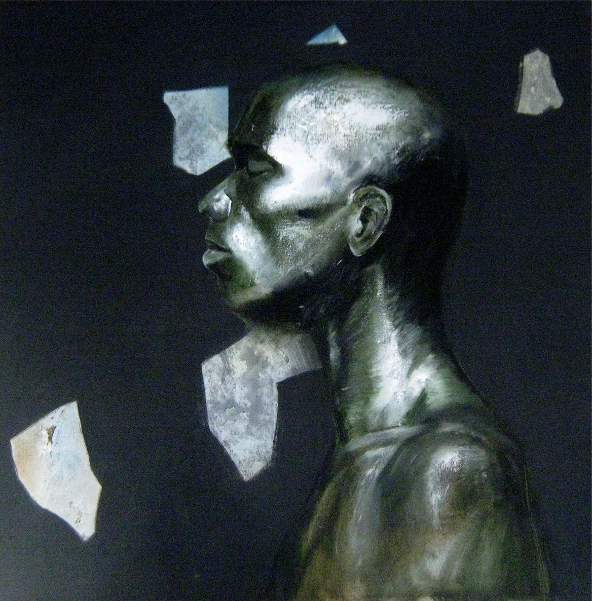 Peace by Bhaskar Mandolu, Photorealism, Photorealism Painting, Acrylic on Canvas, Blue color