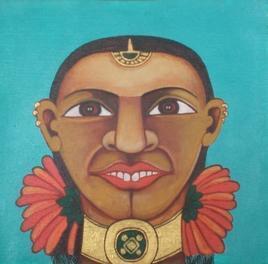 Fower Power 1 by Thota Laxminarayana, , , Brown color