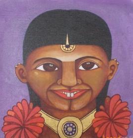 Fower Power 2 by Thota Laxminarayana, , , Brown color