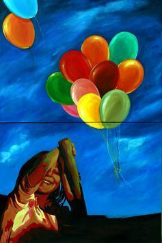 Sky Rise Series by Anjali Sinha, Painting, Acrylic on Canvas, Blue color
