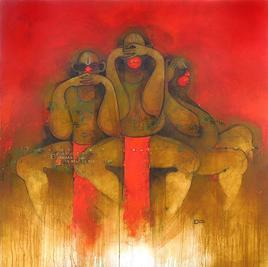 Bura Mat Bolo, Bura Mat Dekho, Bura Mat Suno by Amol Pawar, , , Brown color