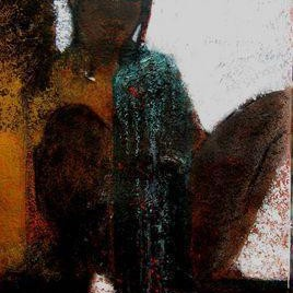 My Views X by Sudip Chatterjee, Fantasy, Fantasy Painting, Mixed Media on Paper, Brown color