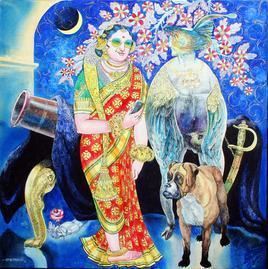 Love Song 1 by Chandranath Acharya, , , Blue color