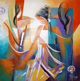 Early Awakening by Ella Prakash, , , Brown color