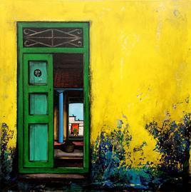 Untitled by K R Santhanakrishnan, , , Green color