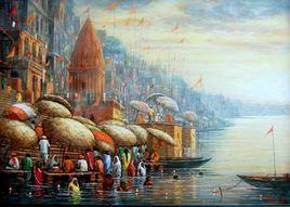 Benaras by Paramesh Paul, , , Brown color