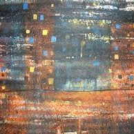 Monsoon Nights by Prashant Mahangare, Decorative, Decorative Painting, Mixed Media on Paper, Brown color