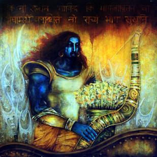 Arjuna Digital Print by Avik Chakraborty,