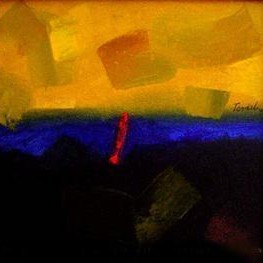 Abstract 5 by Ramesh Terdal, Abstract, Abstract , Oil on Canvas, Orange color