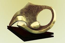 Nest by Sanjib Narayan Dutta, Decorative, Decorative Sculpture | 3D, Bronze, Beige color