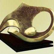 Nest by Sanjib Narayan Dutta, Decorative, Decorative Sculpture   3D, Bronze, Beige color